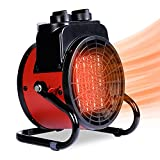 Portable Electric Heater for Indoor Use, Portable Ceramic Space Heater 1500W, Small Space Heater with Thermostat and 3Modes, Overheat Protection, Forced Air Fast Heating Element, for Home Office Garage Workshop
