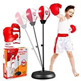 Niwoed Punching Bag Set for Kids with Stand,Kids Boxing Toys Kit Includes Boxing Gloves Punching Ball and Adjustable Stand,Sensory Sports Toys Best Idea Gift for Kids Boys Girls Age 3 4 5 6 7 8 9 10