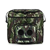 The #1 Cooler with Speakers on Amazon. 20-Watt Bluetooth Speakers for Parties/Festivals/Boat/Beach. Rechargeable, Works with iPhone & Android (Camo, 2020 Edition)