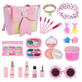 Kids Makeup Kit for Girl, Washable Real Makeup Set for Little Girl with Purse, Play Makeup for Little Girls Toddler Kids Age 4 5 6 7 8 Years Old Christmas Birthday Gifts