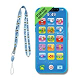 ZeenKind Bilingual Spanish English Baby Toy Cell Phone   Interactive Learning Mobile Phone for Kids, Toddlers 1-3 Boys and Girls   Educational Toys to Teach Alphabet Numbers to Preschoolers