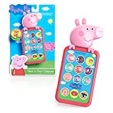 Peppa Pig Have a Chat Cell Phone, Toy Phone with Realistic Sounds and Light Up Buttons, by Just Play