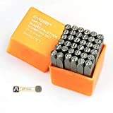 """OWDEN Professional 36Pcs. Steel Metal Stamping Tool Set,(1/8"""") 3mm,Steel Number and Letter Punch Set,Alloy Steel Made HRC 58-62 for Jewelry Craft Stamping."""