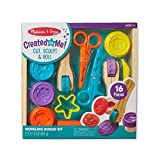 Melissa & Doug Created by Me! Cut, Sculpt, and Roll Modeling Dough Kit With 8 Tools and 4 Colors of Modeling Dough