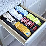 Polar Whale Tea Bag Storage Deluxe Organizer Tray Drawer Bin Insert for Kitchen Home Office Condiments Packets Waterproof Washable Black Foam 6 Compartment 11.9 X 15.9 Inches
