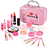 Bloranda Kids Makeup Kit for Girl, Real Washable Makeup Set for Kids Girls, Masquerade, Birthday Friendship Christmas Thanksgiving Day Present Gift Toys for 3 4 5 6 7 8 9 10 Year Old Girl