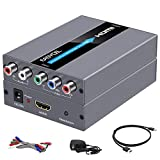 Component to HDMI Converter with Scaler Function(HDMI and Component Cables Included), RGB YPbPr to HDMI Converter, Component HDMI Adapter(Aluminum)