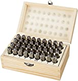 Amazon Basics Metal Alphabet And Number Stamp Kit Tools Set With Wood Box - 5/16 Inch