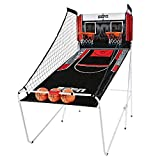 ESPN Indoor Home 2 Player Hoop Dual Shootout Basketball Arcade Game with Preset Games, LED Scoreboard, Side Netting, 3 Basketballs and Pump