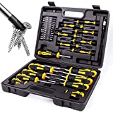 Magnetic Screwdrivers Set with Case, Amartisan 42-piece Includs Slotted, Phillips, Hex, Pozidriv,Torx and Precision Screwdriver Set Tools for Men