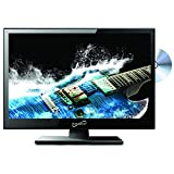 SuperSonic SC-1512 LED Widescreen HDTV & Monitor 15.6', Built-in DVD Player with HDMI, USB, SD & AC/DC Input: DVD/CD/CDR High Resolution and Digital Noise Reduction
