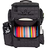 Dynamic Discs Combat Ranger Disc Golf Backpack   Large Main Compartment That Can Hold 18+ Discs   On-Deck Frisbee Golf Putter Pouch   Padded Back Panel and Straps for Extra Comfort (Heather Charcoal)