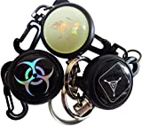 Retractable Badge Holders - LeBeila Heavy Duty Self Retracting Key Holder Reel Carabiner Belt Clip, Stainless Steel Chain Cord/Metal Wire with Keyring for ID Badges Name Cards Keys Keychain (3pcs)