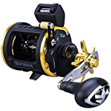 Sougayilang Line Counter Fishing Reel Conventional Level Wind Trolling Reel-TRA 30R