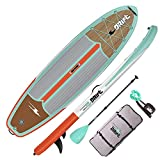 DRIFT 10'8' Inflatable Stand Up Paddle Board, SUP with Accessories   Coiled Leash, Pump, Lightweight Paddle, Fin & Backpack Travel Bag…