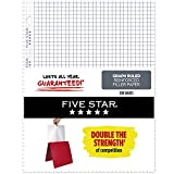 Five Star Loose Leaf Paper, 3 Hole Punched, Reinforced Filler Paper, Graph Ruled, 11 x 8-1/2 inches, 100 Sheets/Pack, 1 Pack (17012)