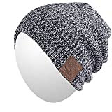 Qshell Bluetooth Beanie Hat, Winter Warm Soft Trendy Cap with Wireless Headphone Headset Earphone Stereo Speaker Mic Hands Free for Lifestyle Outdoor Sport,Compatible with iPhone Android - Gray