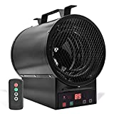 AKUSAKO Electric Garage Heater - Workspace Forced Air Heater, Portable Space Heater with Thermostat for Workshop, Warehouse, Large Storage Area