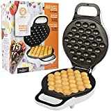 MasterChef Bubble Waffle Maker- Electric Non stick Hong Kong Egg Waffler Iron Griddle w FREE Recipe Guide- Ready in under 5 Minutes