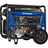 Westinghouse Outdoor Power Equipment WGen9500DF Dual Fuel Portable Generator-9500 Rated 12500 Peak Watts Gas or Propane Powered-Electric Start-Transfer Switch & RV Ready, CARB Compliant, Blue