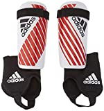 adidas Youth X Shin Guards White/Power Red Small