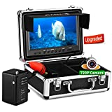 Eyoyo Underwater Fishing Camera, Ice Fishing Camera Video Fish Finder Upgraded 720P Camera 12 IR Lights with 1024x600 9 inch Screen w/DVR Function for Ice, Lake, Boat, Sea Fishing (30m+DVR)