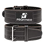 Weight Lifting Belt back support for Men and Woman Leather Weightlifting Belt Comes With (Black/White, Medium)