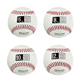 Thorza Weighted Baseballs for Throwing - Help Increase Pitch Velocity - Set of 4 Practice Baseballs Ranging from 6oz to 12oz