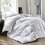 Luxury King Size White Goose Down Feather Comforter Duvet Insert Goose Down All Seasons 600 Thread Count Soft 100% Cotton Cover Down Proof,Cozy Down Duvet with Corner Tabs.