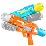 SNAEN Water Guns for Kids,2 Pack 19.7''Big Water Cannons Super Squirt Guns Water Soaker Blaster 1100cc High Capacity Pistol Long Range Summer Swimming Pool Beach Sand Outdoor Water Fighting Play Toys