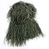 Ghillie Suit Hat, Jungle Hunting Camouflage 3D Leaves Hat Cover Military Clothes for Forest Jungle Hunting Training