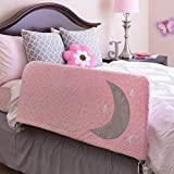 Premium Bed Rail for Toddlers - Includes Beautiful Cover with Inside Pocket - Safety Side Guard Rail for Kids - Extra Long 54' Pink- Fits Twin, Double, Full Size, Queen & King by Cosie Covers