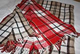 Sanyork Warm Brushed Recycled Wool Plaid Blanket Mexico Throw Mexican Assorted Colors004909