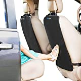 Enovoe Back Seat Protector for Kids - 2 Pack - Premium Quality Car Kick Mats - Best Waterproof Protection for Upholstery from Dirt, Mud, Scratches - Extra Large Car Seat Protector Back of Driver Seat