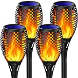 Marlrin Solar Lights Outdoor【2021 Upgraded】, Solar Torch Lights with Flickering Flame, Waterproof Solar Tiki Torches Flame Lights Landscape Lighting, Auto On/Off for Garden Pathway Yard Patio Decor