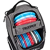 Dynamic Discs Trooper Disc Golf Backpack   Heather Gray   Frisbee Disc Golf Bag with up to a 25 Disc Capacity   Introductory Disc Golf Backpack   Lightweight and Durable