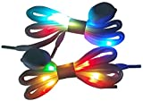 LIHAI Led Light Up Shoelaces with Multicolor Flashing Shoe laces for Night Party
