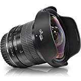 Altura Photo 8mm f/3.0 Professional for Canon Wide Angle Lens Aspherical Fisheye Lens for Canon EOS 90D 80D 77D Rebel T8i T7 T7i T6i T6s T6 T100 SL2 SL3 DSLR Cameras with Canon EF Lens Mount