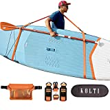 Kolti Paddle Board Carry Strap, Adjustable Heavy-Duty SUP Carrying Support Strap for Surfboard Stand Up Paddleboard Canoe Longboard Carry Belt Paddle Board Accessories