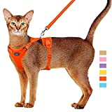 Cat Harness and Leash Set Escape Proof Kitten Harness Adjustable Cat Vest Harness with Reflective Trim Universal Cat Leash and Harness for Cats/Puppies Outdoor Walking