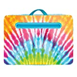 """Three Cheers for Girls - Tie Dye Lap Desk - Portable Lap Pillow Desk for Kids with Media Slot - 12"""" x 16.9"""" Lap Desk for Laptop, Tablets, & Notebooks"""