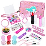 Kids Makeup Kit for Girl, Washable Kids Makeup Sets, Real Girls Makeup for Kids, Toddler Pretend Play Makeup Set for 4 5 6 7 8 Years Old Little Girls Gifts