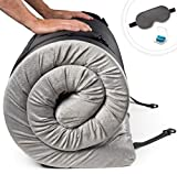 Zermätte Roll Up Memory Foam Camping Mattress   Portable Folding Sleep Mat, Pad & Topper for Floor   Single, Twin, Kids Guest Bed or Outdoor Cot, Lightweight w/Removable Waterproof Cover, Travel Bag