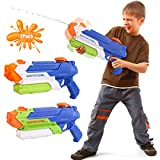Beewarm Water Guns for Kids Adults - 900 CC Super Water Soaker Long Range - Lifetime Replacement - Big Water Toys for Boys and Girls as Birthday Gifts Red (2 Pack)