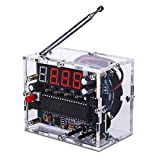 MiOYOOW FM Digital Radio Kit DIY Soldering Project Adjustable Wireless Receiver 87-108MHz FM Radio Module DIY Kits for Soldering Learning Teaching and Home Education