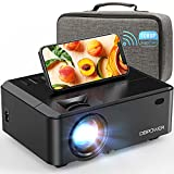 WiFi Mini Projector, DBPOWER 7500L HD Video Projector with Carrying Case&Zoom, 1080P and iOS/Android Sync Screen Supported, Portable Home Movie Projector Compatible w/Smart Phone/Laptop/PC/DVD/TV/PS4