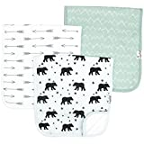 """Baby Burp Cloth Large 21''x10'' Size Premium Absorbent Triple Layer 3 Pack Gift Set For Boys """"Archer Set"""" by Copper Pearl (Assorted Colors/Design)"""