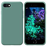 OUUZ iPhone SE 2020 Case,iPhone 8 Phone case,iPhone 7 case Liquid Silicone Gel Rubber Phone Case,iPhone SE 2020/8/7 4.7' Full Body Slim Soft Microfiber Lining Drop Protective Case (Forest Green)