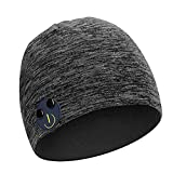 Bluetooth Beanie Hat for Men Headphone Tech Caps Autumn Music Beanie with Detachable Stereo Speakers & Microphone for Outdoor Sports Cool Tech Gifts for Dad Mother(Grey)