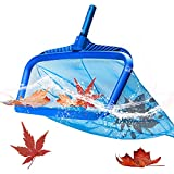 Pool Skimmer Net, Pool Nets for Cleaning,Pool Net, Pool Leaf Net, 19' Heavy Duty Pool Leaf Rake Tool Fine Mesh Deep Bag with Strong Plastic Frame,for Cleaning Swimming Pool and Fountain (Without Pole)